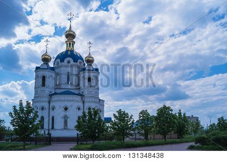 St. Alexander Nevsky church in cloudy weather
