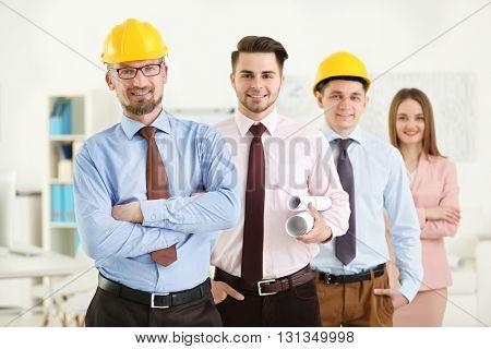 Engineering team in design center