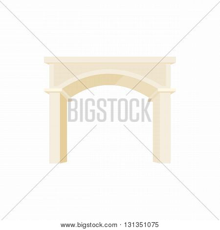 antique portal with columns icon in cartoon style on a white background