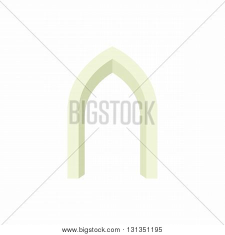 Gothic portal icon in cartoon style on a white background