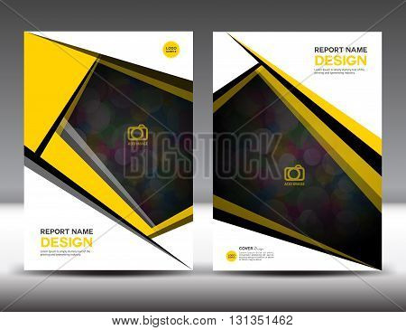 Set Yellow Cover Annual report design vector illustration cover template brochure flyer template poster booklet leaflet