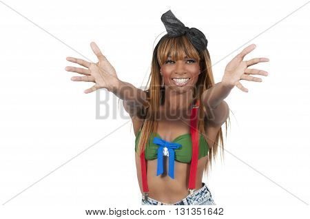 Woman With Outstetched Arms