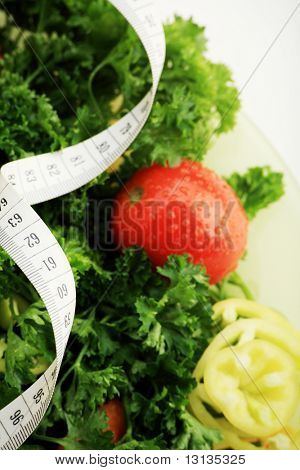 Diet vegetables, fruits and other foodstuffs.