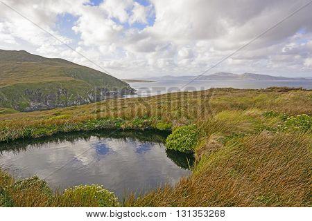 Colorful Landscape on Cape Horn Island in Tierrra del Fuego Chile
