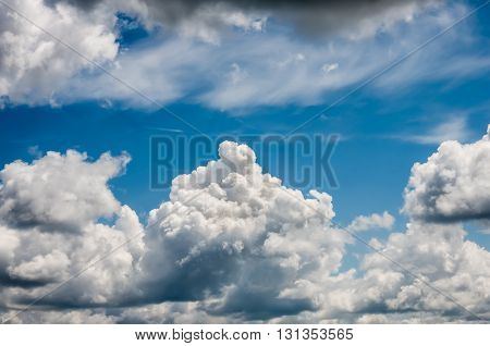 Blue sky with clouds in nice weather