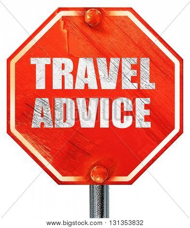 travel advice, 3D rendering, a red stop sign