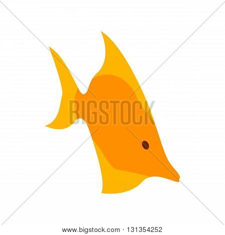 Moorish idol fish icon in isometric 3d style isolated on white background. Sea and ocean symbol