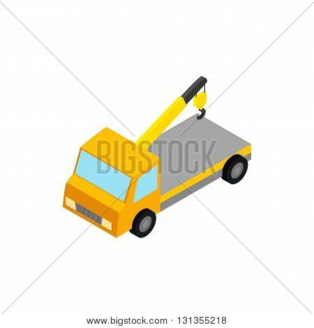 Tow truck icon in isometric 3d style isolated on white background. Transport and service symbol