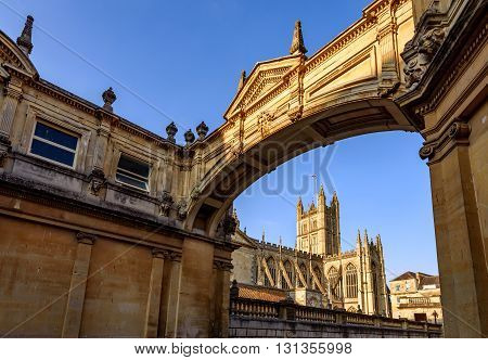 The Historical Bath Cathedral in Bath City UK