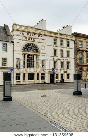 PERTH SCOTLAND - MAY 24 2016:The Salutation Hotel in South St Perth