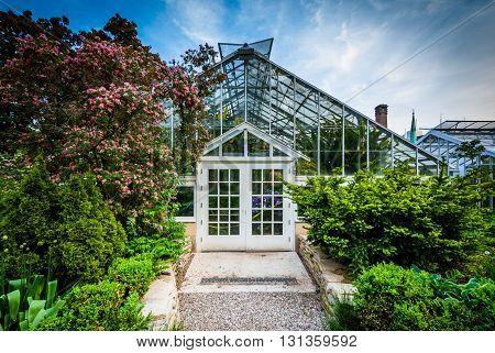 Gardens And The Palm House At The Allan Gardens, In The Garden District, Toronto, Ontario.