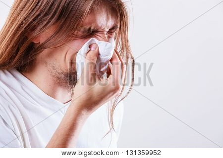 Man With Hygienic Tissue