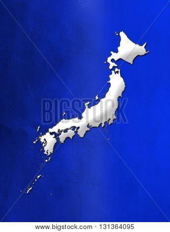 Japan map.
