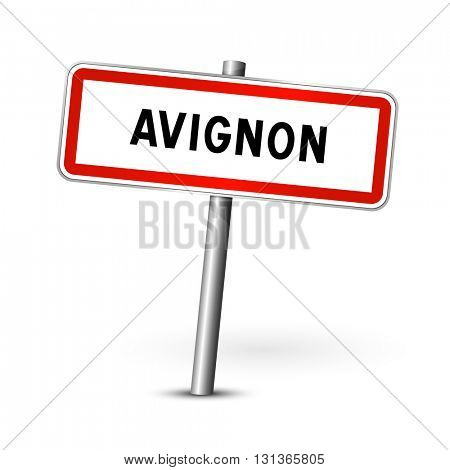 Avignon France - city road sign - signage board