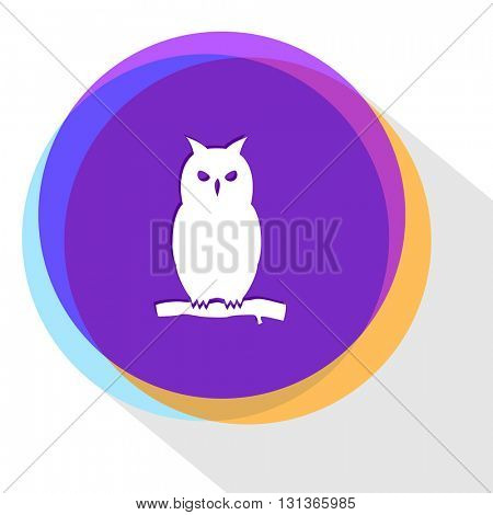 owl. Internet template. Vector icon.