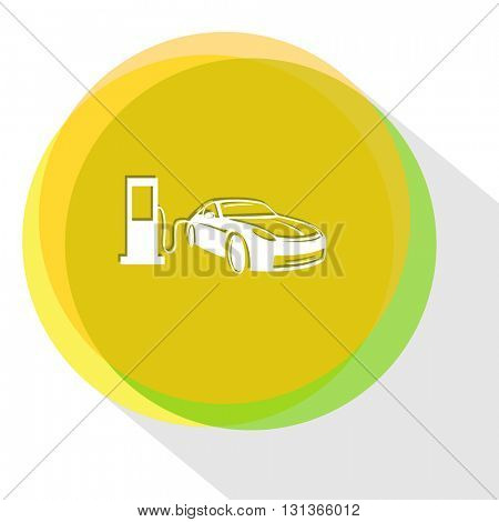 car fueling. Internet template. Vector icon.