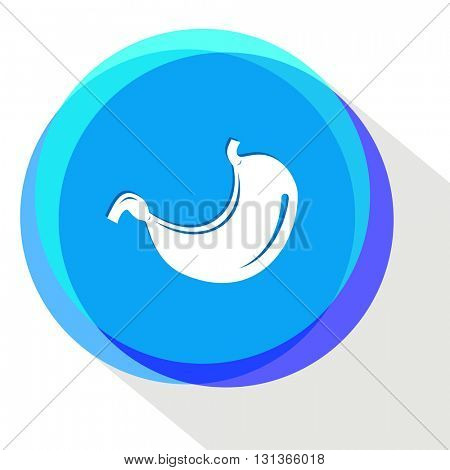 stomach. Internet template. Vector icon.