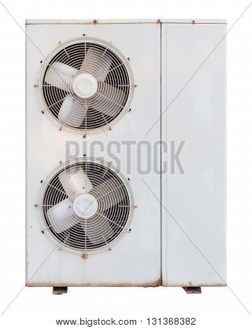 air condition old condensing Unit isolated on white background with clipping path