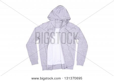 Isolated hooded sweater on a white background