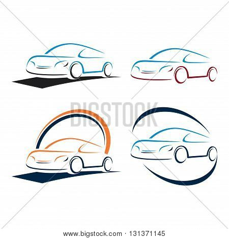 Symbol of Simple Abstract Automotive Car Care