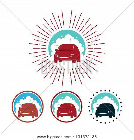 Logo of Sunburst Retro Vintage Style Car Wash