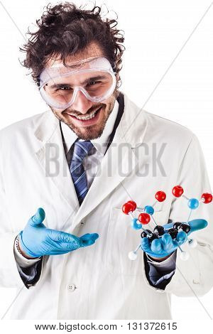 Scientist With Tnt Molecule