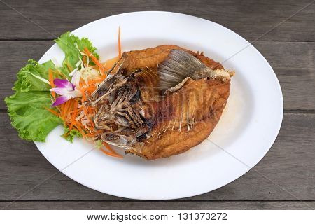 Deep Fried Snapper Topped With Sweet Fish Sauce