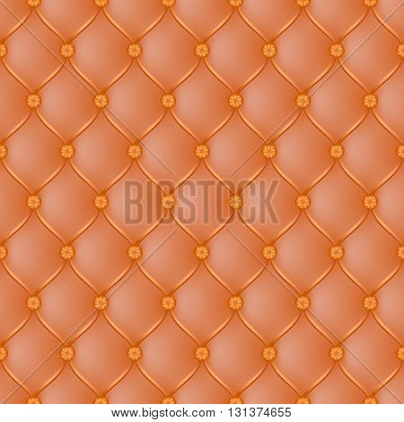 Vector abstract upholstery orange background. Can be used in cover design book design website background CD cover advertising.