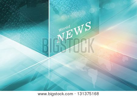 Digital Abstract Cubica Technology Background Global Connectivity of Digital World News Background