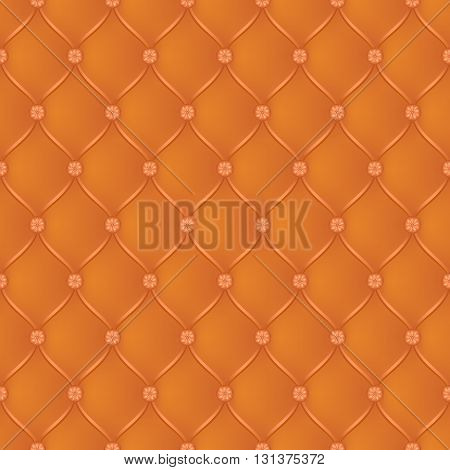 Vector abstract upholstery dark orange background. Can be used in cover design book design website background CD cover advertising.