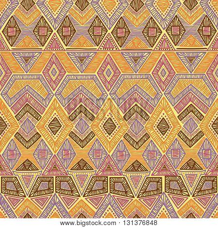 Seamless Geometric Pattern. Embroidery Motifs. Handmade.