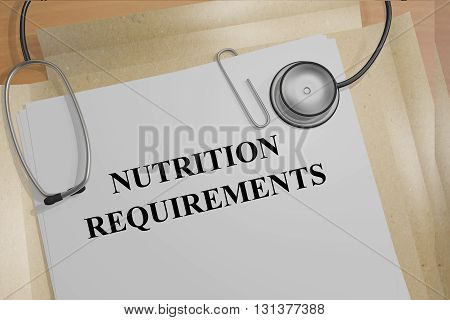 Nutrition Requirements Medical Concept