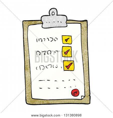 freehand textured cartoon checklist