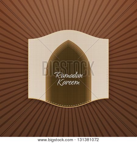 Ramadan Kareem religious Banner. Islam Holiday Background Template. Vector Illustration