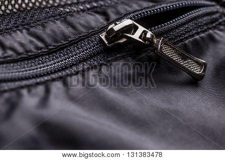 Zipper Of A Jacket Pocket