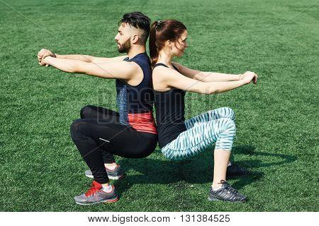 Couple stunt