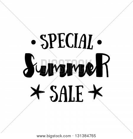 Summer Sale badge Summer sale label Summer sale banner. Vector watercolor banner with ink splashes. SALE Summer poster. Vector illustration. Special offer. Big Summer sale banner. Big Discount
