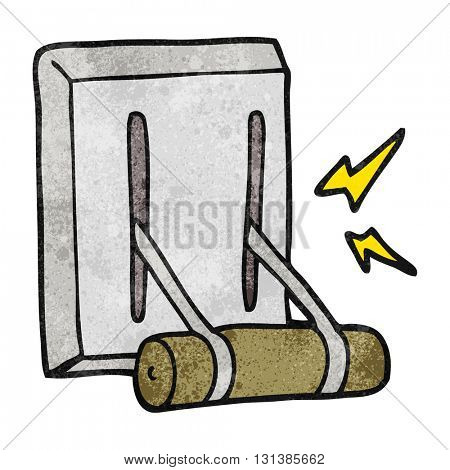 freehand textured cartoon electrical switch