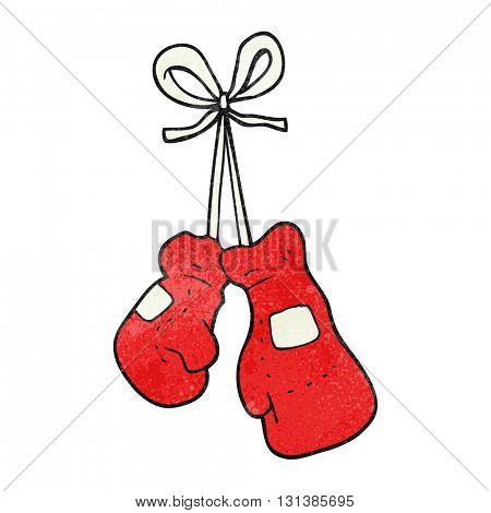 freehand textured cartoon boxing gloves
