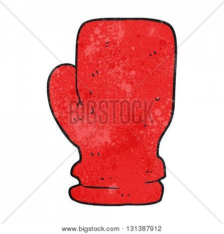 freehand textured cartoon boxing glove