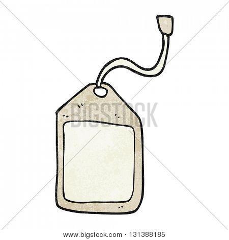 freehand textured cartoon luggage tag