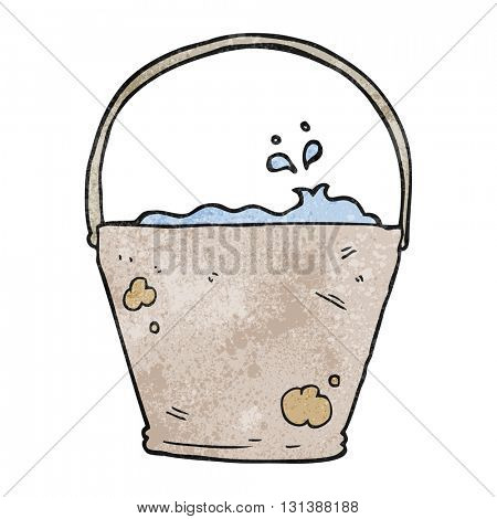freehand textured cartoon bucket