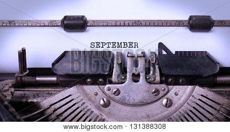 Old Typewriter - September