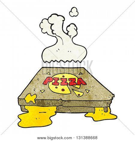freehand textured cartoon pizza