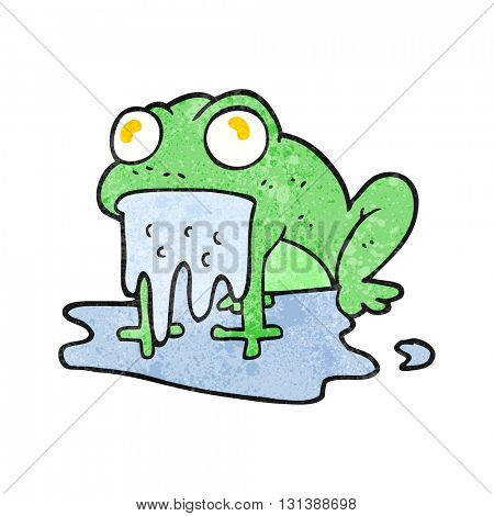 freehand textured cartoon gross little frog