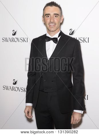 New York City USA - May 24 2016: Senior Vice President of Branding Alessandro Vergano attends Swarovski #bebrilliant event at The Weather Room - Rockefeller Center