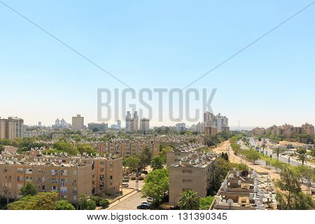 View of the houses in the Beersheba