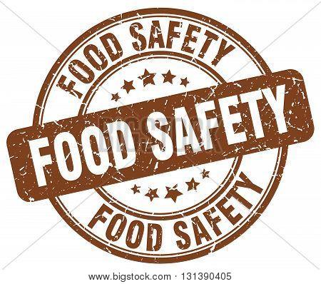 food safety brown grunge round vintage rubber stamp.food safety stamp.food safety round stamp.food safety grunge stamp.food safety.food safety vintage stamp.