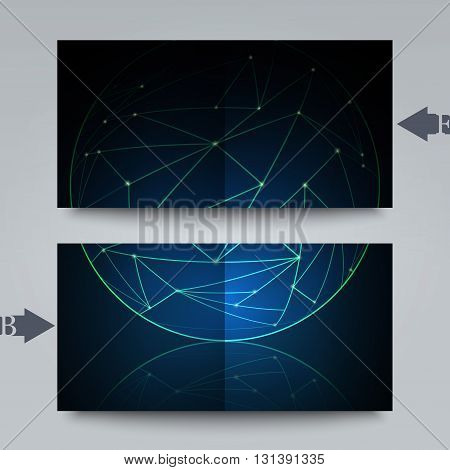 Graphic illustration. Brochure template with abstract background.