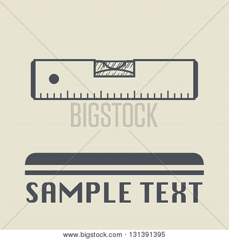 Bubble level icon or sign, vector illustration